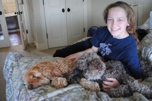 Charis of S.A.T. gourmet home for the weekend photo of Charis and her dogs Jorge and Diego