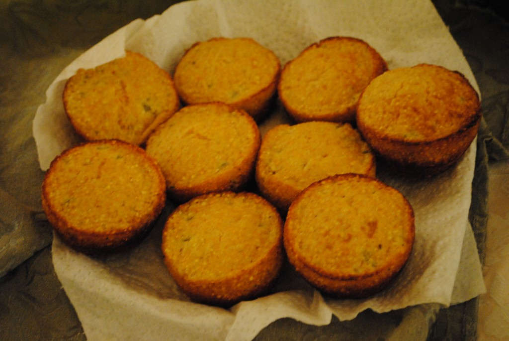 "Photo of jalapeno corn bread muffins by Charis Freiman-Mendel, the S.A.T. gourmet and author of ""Cook Your Way Through The S.A.T."" for her post on Thanksgiving traditions old and new"