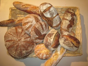 Photo of artisanal breads for blog post on leftover christmas turkey soup by charis freiman-mendel author of cook your way through the s.a.t.