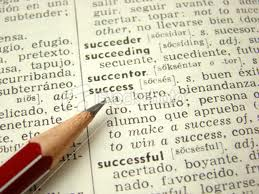 "Photo of dictionary opened to the word ""success"" for post on S.A.T. gourmet by Charis Freiman-Mendel, author of ""Cook Your Way Through The S.A.T."", on tips for learning vocabulary such as read, circle, look up"
