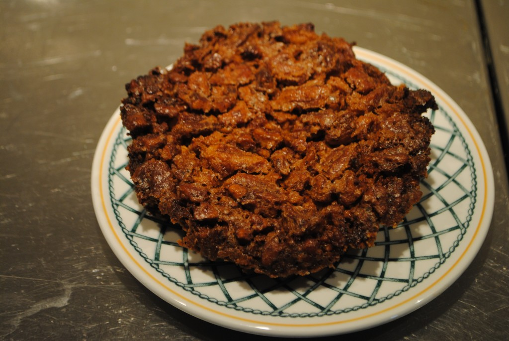 Photo of southern double pecan pie on plate by charis freiman-mendel, author of cook your way through the s.a.t.