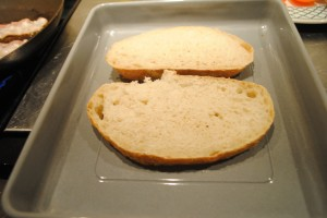 "Photo of sourdough bread for blog on Recipe of ""Spanglish"" sandwich, for www.SATgourmet.com, a website by author of Cook Your Way Through The S.A.T., Charis Freiman-Mendel."