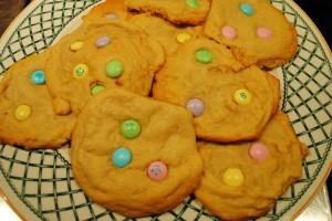 "Photo of baked cookies for easter cookies for blog on ""Easter Cookies,"" on www.SATgourmet.com, a blog by author of Cook Your Way Through The S.A.T., by Charis Freiman-Mendel."