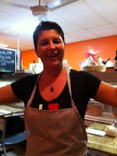 Photo of restaurant Dolce Italia, Chef Tiziana in Sarasota, Florida for blog post by Charis Freiman-Mendel, author of Cook Your Way Through The S.A.T.