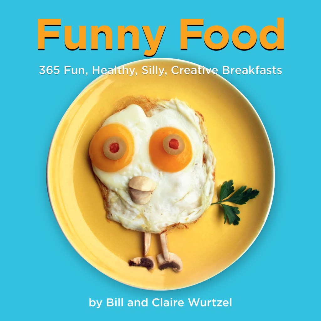 "Photo of cover of ""Funny Food"" for book review by Charis Freiman-Mendel author of ""Cook your way through the s.a.t."""