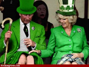 "Photo of Prince Charles and Camilla for blog, ""Happy St. Patrick's Day"" on SATgourmet.com by author of ""Cook Your Way Through The S.A.T.,"" Charis Freiman-Mendel."