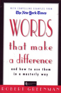 "Photo of book, ""Words That Make A Difference"" for blog on book review on www.SATgourmet.com, a blog by Charis Freiman-Mendel, author of ""Cook Your Way Through The S.A.T."""