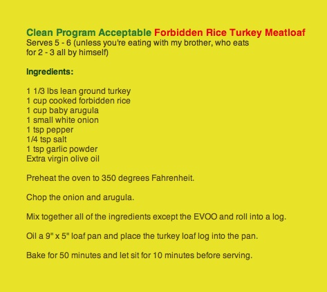 "Photo of clean program acceptable Forbidden rice turkey meatloaf recipe for post by charis freiman-mendel, author of ""cook Your way through the s.a.t."""