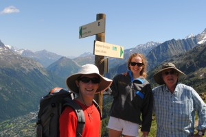 "Photo of hiking in Chamonix for blogpost, ""Pictures from France: Part Trois,"" on website www.SATgourmet.com, by author of Cook Your Way Through The S.A.T., Charis Freiman-Mendel."
