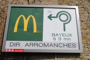 "Photo of McDonald's in France for blog, ""Pictures From France"" by Charis Freiman-Mendel, author of cookbook, ""Cook Your Way Through The S.A.T."""