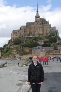 "Photo of Mont Saint-Michel for blogpost, ""Pictures From France: Part Deux, on www.SATgourmet.com, by author of ""Cook Your Way Through The S.A.T,"" Charis Freiman-Mendel."