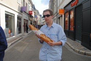 "Photo of baguette for blogpost, ""Pictures from France: Part Trois,"" on website www.SATgourmet.com, by author of Cook Your Way Through The S.A.T., Charis Freiman-Mendel."