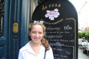 "Photo of Da Rosa for blogpost, ""David Lebovitz's Paris,"" on website www.SATgourmet.com, by author of Cook Your Way Through The S.A.T., Charis Freiman-Mendel."