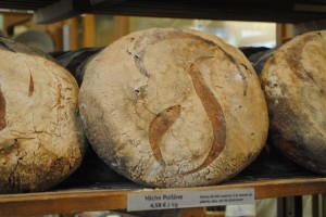 "Photo of Poilâne bread for blogpost, ""David Lebovitz's Paris,"" on website www.SATgourmet.com, by author of Cook Your Way Through The S.A.T., Charis Freiman-Mendel."