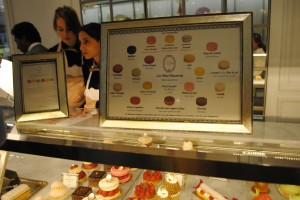 "Photo of Ladurée macarons for blogpost, ""David Lebovitz's Paris,"" on website www.SATgourmet.com, by author of Cook Your Way Through The S.A.T., Charis Freiman-Mendel."