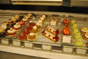 "Photo of Ladurée pastries for blogpost, ""David Lebovitz's Paris,"" on website www.SATgourmet.com, by author of Cook Your Way Through The S.A.T., Charis Freiman-Mendel."