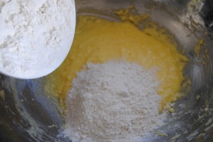 "Photo of flour for blog post, ""Fourth of July Cake"" on website, www.SATgourmet.com, by author of Cook Your Way Through The S.A.T., Charis Freiman-Mendel."