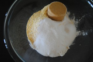 "Photo of brown and white sugar for blog post, ""Recipe: Sweet Cornbread,"" on www.SATgourmet.com, by author of Cook Your Way Through The S.A.T., Charis Freiman-Mendel."