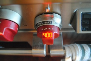 "Photo of preheated oven for blog post, ""Recipe: Sweet Cornbread,"" on www.SATgourmet.com, by author of Cook Your Way Through The S.A.T., Charis Freiman-Mendel."