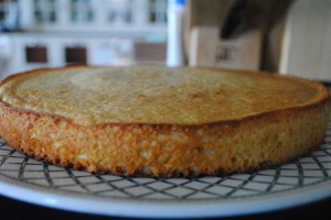 "Photo of completed cornbread for blog post, ""Recipe: Sweet Cornbread,"" on www.SATgourmet.com, by author of Cook Your Way Through The S.A.T., Charis Freiman-Mendel."