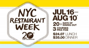 "Photo of nyc restaurant week 2012 for blogpost, "" NYC Restaurant Week 2012,"" on website, www.SATgourmet.com, by author of Cook Your Way Through S.A.T., Charis Freiman Mendel."