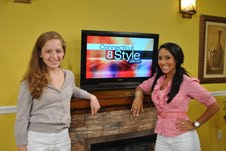 "Photo of Charis Freiman-Mendel and Teresa LaBarbera for blog post, ""Cook Your Way Through The S.A.T. on WTNH,"" on www.SATgourmet.com, by author of Cook Your Way Through The S.A.T., Charis Freiman-Mendel."