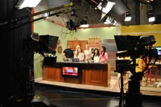 "Photo of WTNH channel 8 Back to school segment ""In The Kitchen"": www.SATgourmet.com for blog post, ""Cook Your Way Through The S.A.T. on WTNH,"" on www.SATgourmet.com, by author of Cook Your Way Through The S.A.T., Charis Freiman-Mendel."