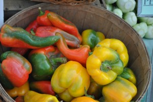 "Photo of peppers for blog post, ""A Trip To The Farmer's Market,"" on www.SATgourmet.com, by author of Cook Your Way Through The S.A.T., Charis Freiman-Mendel."