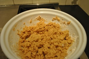 "Photo of cookie batter for blog post, ""Study Break Surprise COokies,"" on www.SATgourmet.com, by author of Cook Your Way Through The S.A.T., Charis Freiman-Mendel."