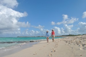 "Photo of Loblolly Beach, Anegada for blog post, ""Tortolla 2012: Hello 2013,"" on www.SATgourmet.com, by author of Cook Your Way Through The S.A.T., Charis Freiman-Mendel."