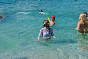 "Photo of snorkeling at the baths in virgin gorda for blog post, ""Tortolla 2012: Hello 2013,"" on www.SATgourmet.com, by author of Cook Your Way Through The S.A.T., Charis Freiman-Mendel."